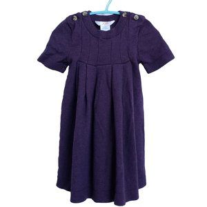 Purple Knit Short Sleeve Dress Toddler 3